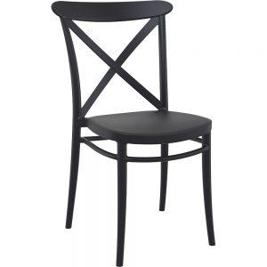 Mormetrik-Siesta Cross Sandalye 254 Siyah 1