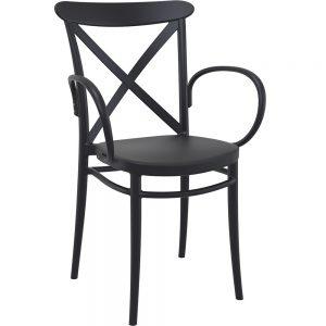 Mormetrik-Siesta Cross XL Sandalye 256 Siyah 1 1