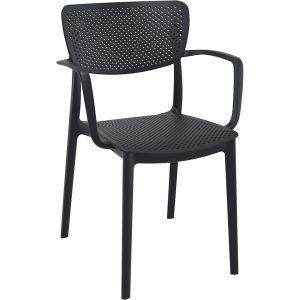 Mormetrik-Siesta Loft Sandalye 128 Siyah