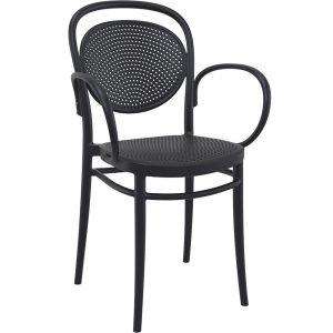 Mormetrik-Siesta Marcel XL Sandalye 258 Siyah